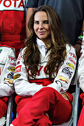LONG BEACH, CA/USA (Tuesday, April 9, 2013) -  Mexico's most acclaimed and popular actress, Kate del Castillo, fields questions for the press during the 2013 Toyota PRO/Celebrity Race Press/Practice Day. PHOTO © Eduardo E. Silva/SILVEX.PHOTOSHELTER.COM.
