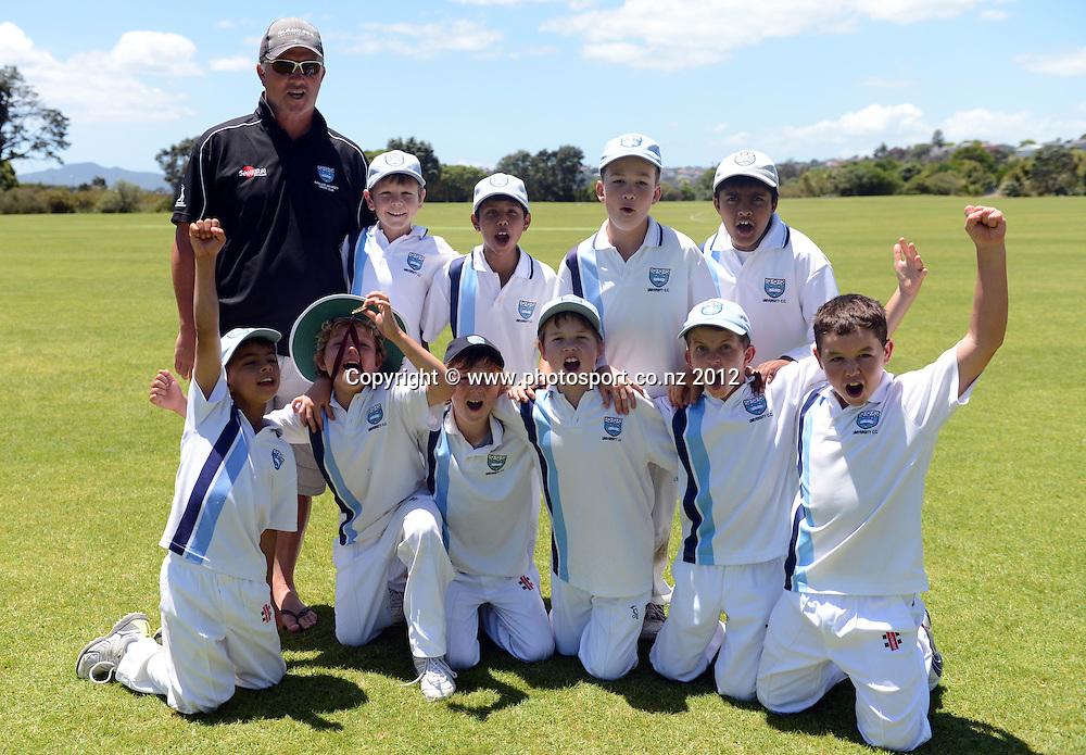 Junior Cricket, Year 5, Rep teams, University v Parnell at Kings School in Remuera on Saturday 9 December 2012. Photo: Andrew Cornaga/ Photosport.co.nz