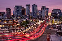 Evening Traffic on 8th Street, Bellevue