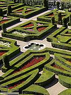 Chateau et Jardins de Villandry, Indre-et-Loire, historical garden, France, Loire Valley, Villandry