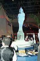 Champagne Reception Ice Statue, The BRIT Awards 1995 <br /> Monday 20 Feb 1995.<br /> Alexandra Palace, London, England<br /> Photo: JM Enternational