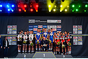 Podium Team Sunweb, QuickStep - Floors, BMC during the 2018 UCI Road World Championships, Men's Team Time Trial cycling race on September 23, 2018 in Innsbruck, Austria - Photo Dario Belingheri / BettiniPhoto / ProSportsImages / DPPI