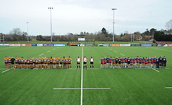Bristol Bears Women and Richmond Women hold a minutes silence - Mandatory by-line: Nizaam Jones/JMP - 23/03/2019 - RUGBY - Shaftesbury Park - Bristol, England - Bristol Bears Women v Richmond Women- Tyrrells Premier 15s