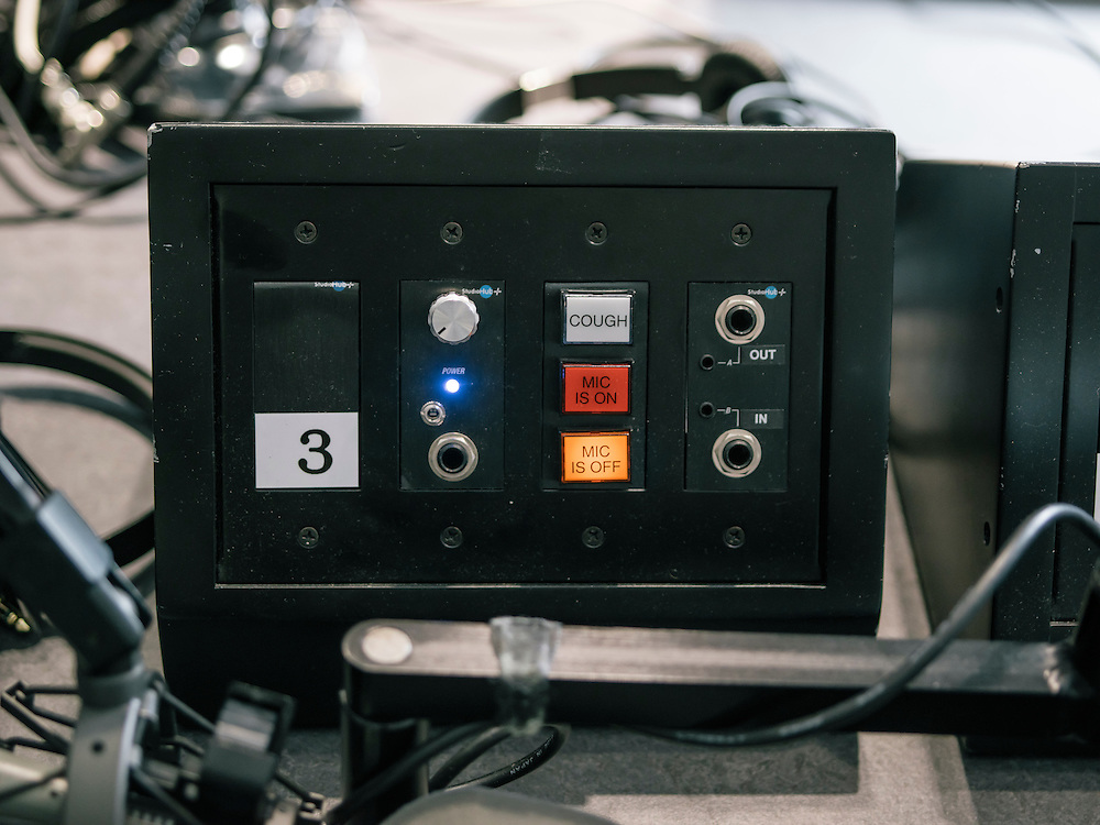One of the guest audio systems at the studio where the Diane Rehm show is broadcasted daily.