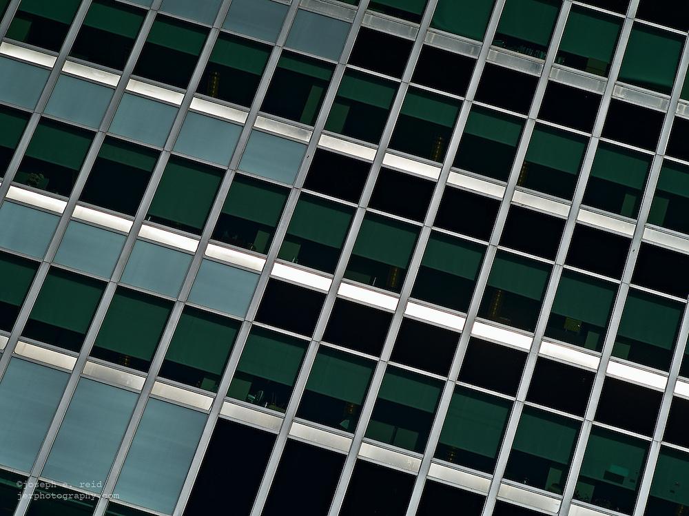 Facade of office building, New York, NY, us