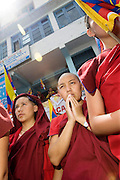 Manifestation for a free Tibet, Dharamsala, Indien.NOT FOR COMMERCIAL USE UNLESS PRIOR AGREED WITH PHOTOGRAPHER. (Contact Christina Sjogren at email address : cs@christinasjogren.com )