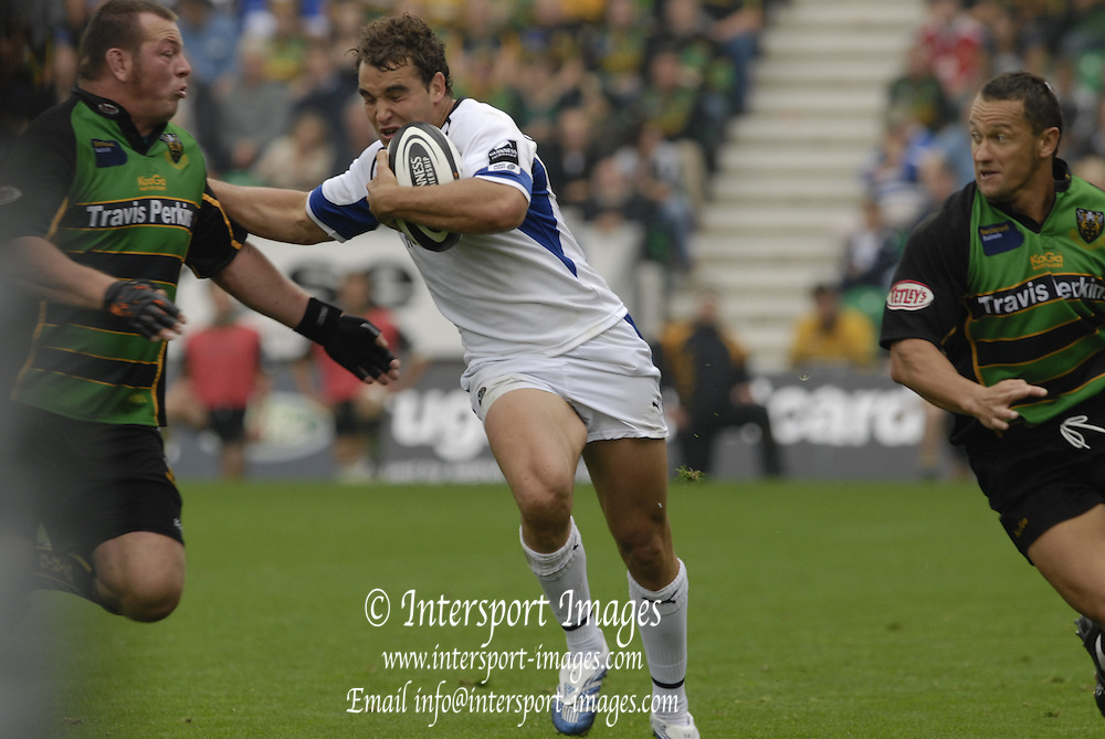 Northampton, GREAT BRITAIN, Baths Olly BARKLEY, Northampton Saints vs Bath Rugby, in the Guinness Premiership Rugby match, at  Franklin's Gardens, Northampton, ENGLAND on 16/09/2006 [Photo, Peter Spurrier/Intersport-images].