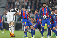 can - 14.03.2017 - Torino - Champions League Quarti di Finale  -  Juventus-Barcellona nella  foto: Giorgio Chiellini segna il gol del 3 a 0