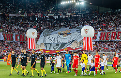 18.05.2016, St. Jakob Park, Basel, SUI, UEFA EL, FC Liverpool vs Sevilla FC, Finale, im Bild Fan Choreographie von Sevilla // Fan choreography of Sevilla Fans during the Final Match of the UEFA Europaleague between FC Liverpool and Sevilla FC at the St. Jakob Park in Basel, Switzerland on 2016/05/18. EXPA Pictures © 2016, PhotoCredit: EXPA/ JFK