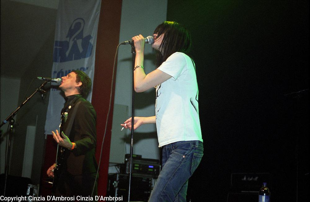 The Kills playing during the Iceland Airwaves. Club Nasa, Reykjavik, Iceland, 2003