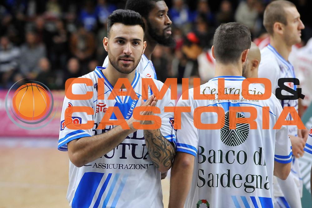 DESCRIZIONE : Campionato 2014/15 Dinamo Banco di Sardegna Sassari - Olimpia EA7 Emporio Armani Milano<br /> GIOCATORE : Brian Sacchetti<br /> CATEGORIA : Ritratto<br /> SQUADRA : Dinamo Banco di Sardegna Sassari<br /> EVENTO : LegaBasket Serie A Beko 2014/2015<br /> GARA : Dinamo Banco di Sardegna Sassari - Olimpia EA7 Emporio Armani Milano<br /> DATA : 07/12/2014<br /> SPORT : Pallacanestro <br /> AUTORE : Agenzia Ciamillo-Castoria / Luigi Canu<br /> Galleria : LegaBasket Serie A Beko 2014/2015<br /> Fotonotizia : Campionato 2014/15 Dinamo Banco di Sardegna Sassari - Olimpia EA7 Emporio Armani Milano<br /> Predefinita :