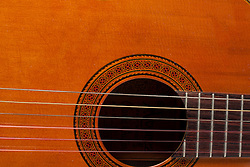 19 February 2012:   Close up shots of an acoustic Alvarez guitar, no pic guard