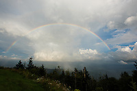 Full rainbow at Clingman's Dome, Great Smoky Mountains National Park