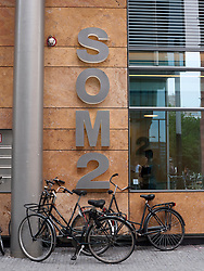 Entrance to office building SOM2 at modern business district at Amsterdam Zuid in The Netherlands
