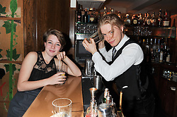FREDDIE FOX and GAIA WISE daughter of Emma Thompson at One Night Only at The Ivy held at The Ivy, 1-5 West Street, London on 2nd December 2012.