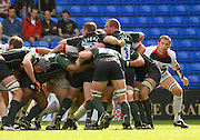 Reading, GREAT BRITAIN, Saracens, Andy FARRELL. looks round the scrum, as the Exiles, push on - from the put in,  during the EDF Energy Cup, rugby match, London Irish vs Saracens at the Madejski  Stadium, ENGLAND, 30/09/2006. [Photo, Peter Spurrier/Intersport-images].