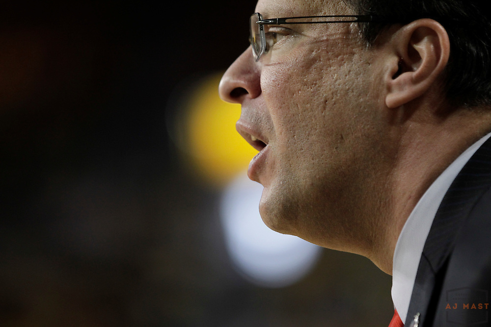 10 March 2013: Indiana head coach Tom Crean as the Indiana Hoosiers played the Michigan Wolverines in a college basketball game in Ann Arbor, Mich.