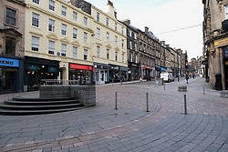 General views of Stirling City centre and shops during the Coronavirus outbreak, 18 March 2020<br /> <br /> Pictured: The normally busy streets in Stirling city centre were practically deserted<br /> <br /> Alex Todd | Edinburgh Elite media
