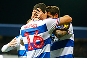 Rangers Tomer Hemed celebrates during the EFL Sky Bet Championship match between Queens Park Rangers and Sheffield Wednesday at the Loftus Road Stadium, London, England on 23 October 2018.
