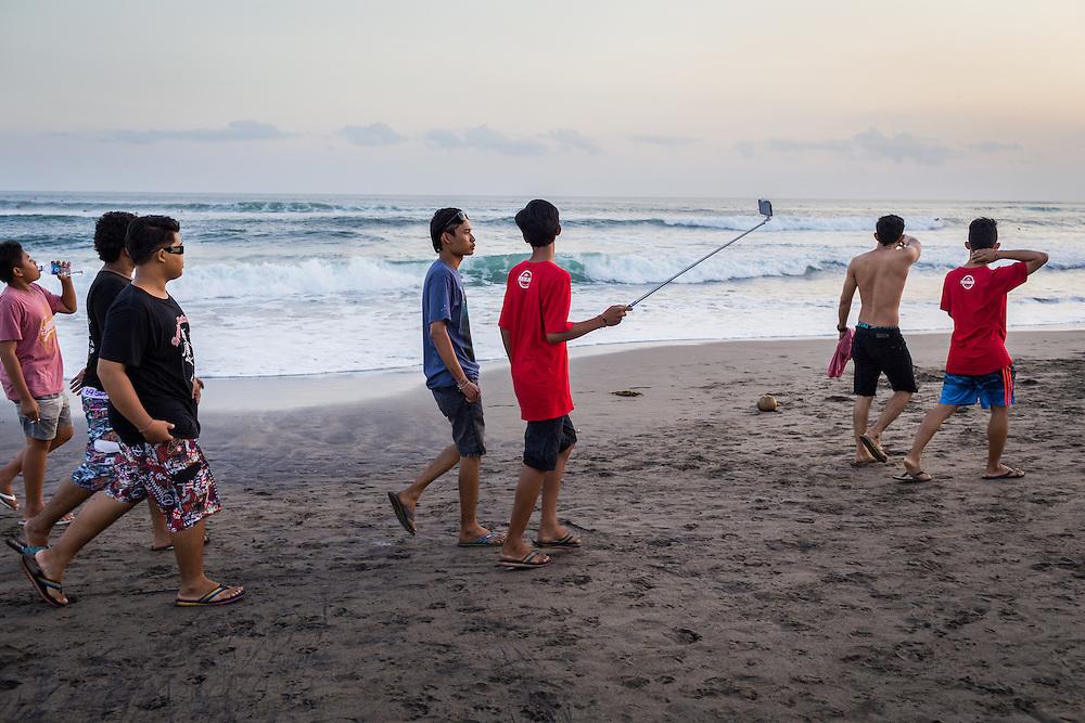 Scenes at Batu Bolong Beach.