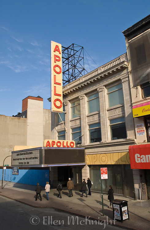 The Apollo Theatre on West 125th Street in Harlem, New York CIty
