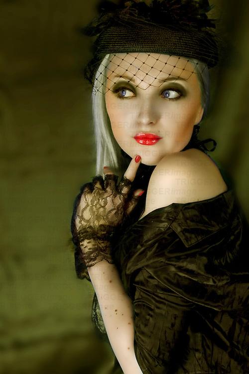 girl vintage style