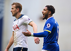 LONDON, ENGLAND - Sunday, March 5, 2017: Everton's Ashley Williams in action against Tottenham Hotspur's Harry Kane during the FA Premier League match at White Hart Lane. (Pic by David Rawcliffe/Propaganda)