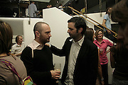GILES BROWN AND STEFAN BRUGGEMANN, Surprise, Surprise. ICA. 1 August 2006. ONE TIME USE ONLY - DO NOT ARCHIVE  © Copyright Photograph by Dafydd Jones 66 Stockwell Park Rd. London SW9 0DA Tel 020 7733 0108 www.dafjones.com
