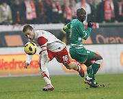 POZNAN 17/11/2010.FOOTBALL INTERNATIONAL FRIENDLY.POLAND v IVORY COAST.Jakub Blaszczykowski of Poland and Didier Zokora of Ivory Coast ..Fot: Piotr Hawalej / WROFOTO