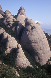 Oddlyshaped mountains at Montserrat; Catalunya,