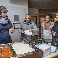 Nederland, Amsterdam, 24 november 2016.<br /> Opvang van uitgeprocedeerde asielzoeker in de zogenoemde BBB opvang (bed, bad en brood) in de wijk Buitenveldert.<br /> <br /> Foto: Jean-Pierre Jans