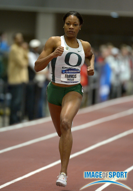 Mar 14, 2014; Albuquerque, NM, USA; Phyllis Francis of Oregon was the top qualifier in the womens 400m in 51.29 in the 2014 NCAA Indoor Championships at Albuquerque Convention Center.