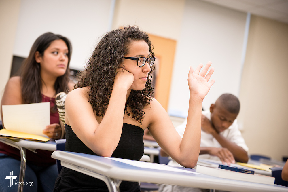Students attend an orientation class at Concordia College New York on Saturday, July 19, 2014, in Bronxville, NY. LCMS Communications/Erik M. Lunsford