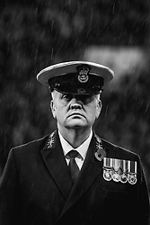 A serviceman stands in the rain - Mandatory by-line: Robbie Stephenson/JMP - 09/11/2018 - FOOTBALL - Bramall Lane - Sheffield, England - Sheffield United v Sheffield Wednesday - Sky Bet Championship