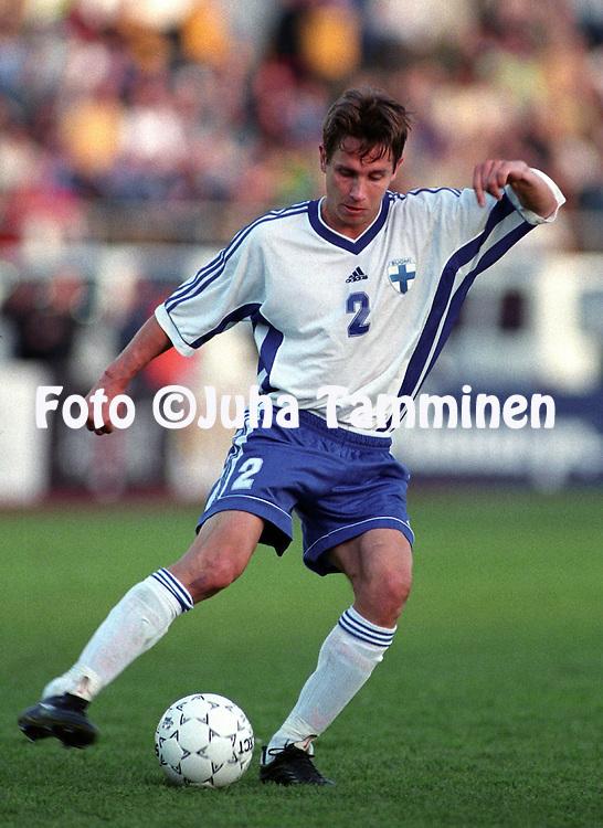 05.06.1999, Olympic Stadium, Helsinki, Finland.  UEFA European Championship qualifying match, Finland v Turkey. . .Harri Yl?nen - Finland.©JUHA TAMMINEN