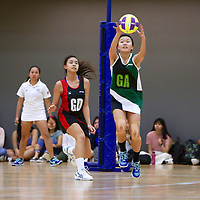Ngee Ann Polytechnic, Thursday, November 24, 2016 — Temasek Polytechnic (red/black) defeated Republic Polytechnic 46-41 to finish second in the POL-ITE Netball Championship.