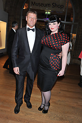 SEAN BEAN and HELEN DONNELLY at the annual Chain of Hope's annual Gala Ball held at the Natural History Museum, London on 8th November 2012.