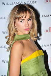 © Licensed to London News Pictures. 10/02/2012. London, England. Suki Waterhouse attends a private dinner ahead of sundays Bafta awards hosted by William Banks-Blaney of WilliamVintage and actress Gillian Anderson at St Pancras Renaissance Hotel London  Photo credit : ALAN ROXBOROUGH/LNP