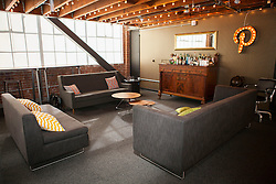 Scenes from Pinterest Headquarters in San Francisco, California.  A lounge area is a Friday afterwork favorite.