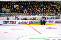 2019-11-20 | Umeå, Sweden: 1 of IF Björklöven:s player end 4 of Västerviks IK:s players in penalty box in HockeyAllsvenskan during the game  between Björklöven and Västervik at A3 Arena ( Photo by: Michael Lundström | Swe Press Photo )<br /> <br /> Keywords: Umeå, Hockey, HockeyAllsvenskan, A3 Arena, Björklöven, Västervik, mlbv191120, sad unhappy disappointment disappointed dejected