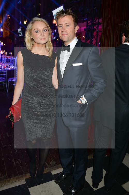 MILES FROST and JESS HIGGINSON at the Sugarplum Dinner - The event was for the launch of Sugarplum Children, a new website and fundraising initiative for children who live with type 1 diabetes, and to raise money for JDRF (Juvenile Diabetes Research Foundation) held at One Mayfair, 13A North Audley Street, London on 20th November 2013.