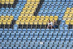Spectators during football match between NK Celje and NK Bravo in 4th Round of Prva liga Telekom Slovenije 2019/20, on August 02, 2019 in Stadion Z'dezele, Celje, Slovenia. Photo by Milos Vujinovic / Sportida