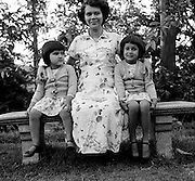 Barbara Rulach and two nieces.<br /> Pictures by Bertram Rulach