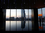 An indoor swimming pool is seen at the top of a luxury hotel in the Gangnam area of Seoul October 7, 2012. Gangnam is the most upmarket neighbourhood in the South Korean capital. /Lee Jae-Won