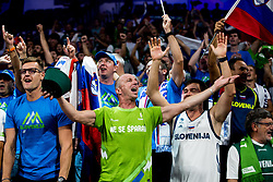 Jani Klemencic cheering during basketball match between National Teams of Slovenia and Spain at Day 15 in Semifinal of the FIBA EuroBasket 2017 at Sinan Erdem Dome in Istanbul, Turkey on September 14, 2017. Photo by Vid Ponikvar / Sportida