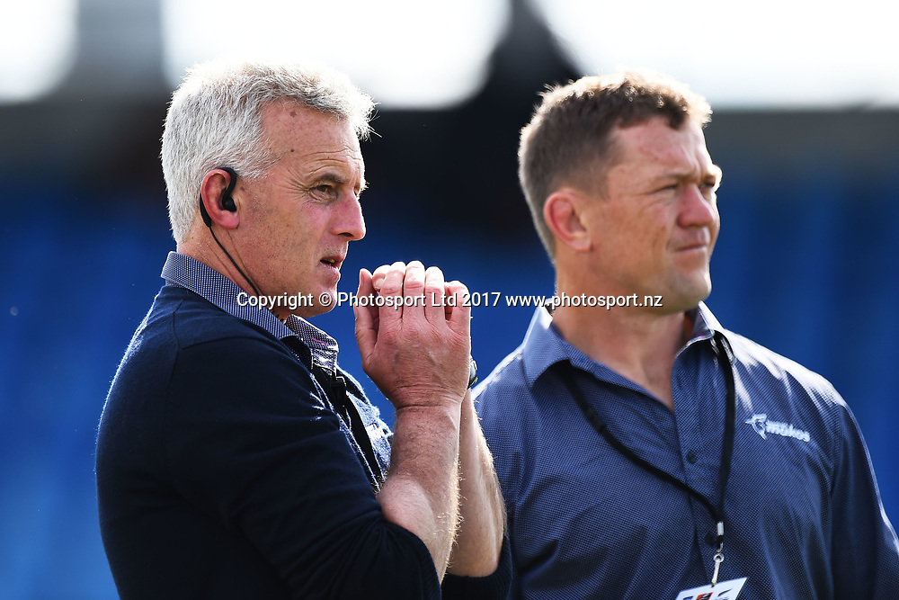 Tasman assistant coach Leo Crowley during their Mitre 10 Cup Premiership Rugby game Tasman Makos v Southland Stags. Trafalgar Park, Nelson, New Zealand. Sunday 24 September 2017. ©Copyright Photo: Chris Symes / www.photosport.nz