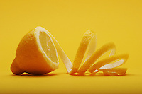 Close up of lemon on white background