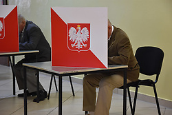 May 26, 2019 - Lubin, Poland - Elections to the European Parliament in Poland. The elections will last from 7 to 21 Polish time. Poles will elect 52 representatives to the European Parliament (Credit Image: © Piotr Twardysko-Wierzbicki/ZUMA Wire)