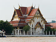 A Buddhist temple on Chao Phraya River, in Bangkok, Thailand