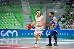 Goran Dragic #3 of Slovenia during friendly basketball match between National teams of Slovenia and G. Britain, on August 20, 2016 in Arena Stozice, Ljubljana, Slovenia. Photo by Urban Urbanc / Sportida